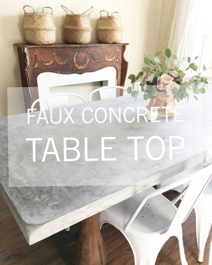 Faux Concrete table top using Marrakech Paint (Pure&Original)