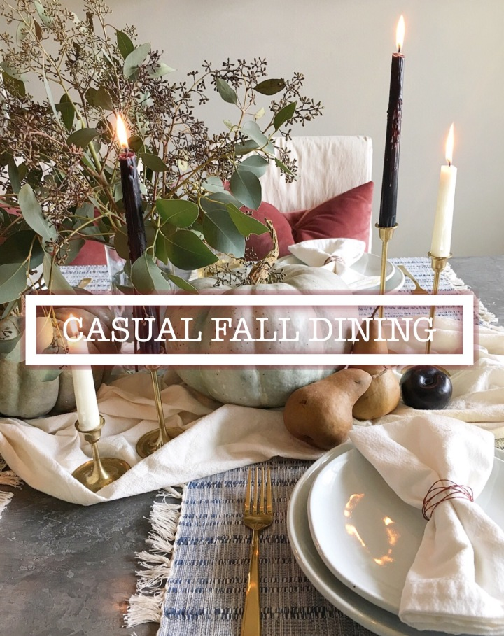 Casual Fall Dining